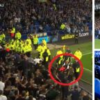 Quick-thinking Everton steward rescues ball-boy from crowd trouble during Europa League tie