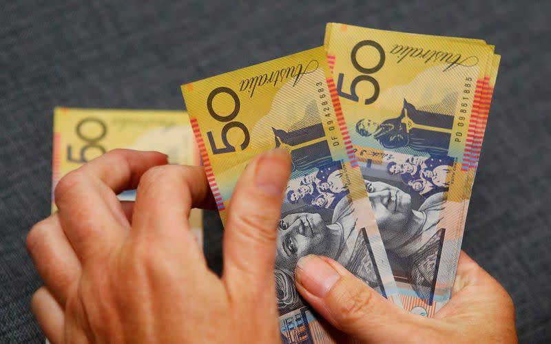 Australia, NZ dollars seen levelling off after climb: Reuters poll