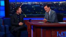 Colbert Tries So Hard to Not Talk 'Hobbit' With Elijah Wood