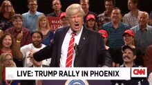Alec Baldwin returns to 'SNL' as Trump to make Phoenix rally great again