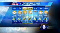 Brisk, cold conditions expected today