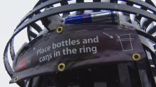 Garbage cans in Kensington designed to help bottle pickers and the environment