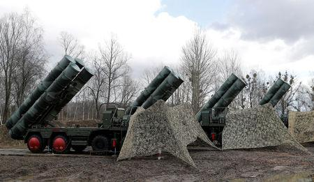 "FILE PHOTO: New S-400 ""Triumph"" surface-to-air missile system after its deployment at a military base outside the town of Gvardeysk near Kaliningrad, Russia. Picture taken March 11, 2019. REUTERS/Vitaly Nevar/File Photo/File Photo"