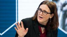 """Cecilia Malmström: """"Es fällt mir schwer, Trump zu verstehen"""""""