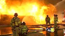 Fire destroys 4 Central Fresno businesses