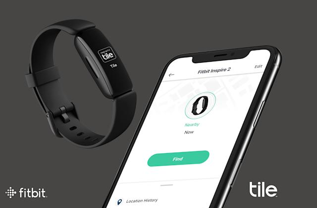 Fitbit's Inspire 2 wearable gains Tile's tracking tech