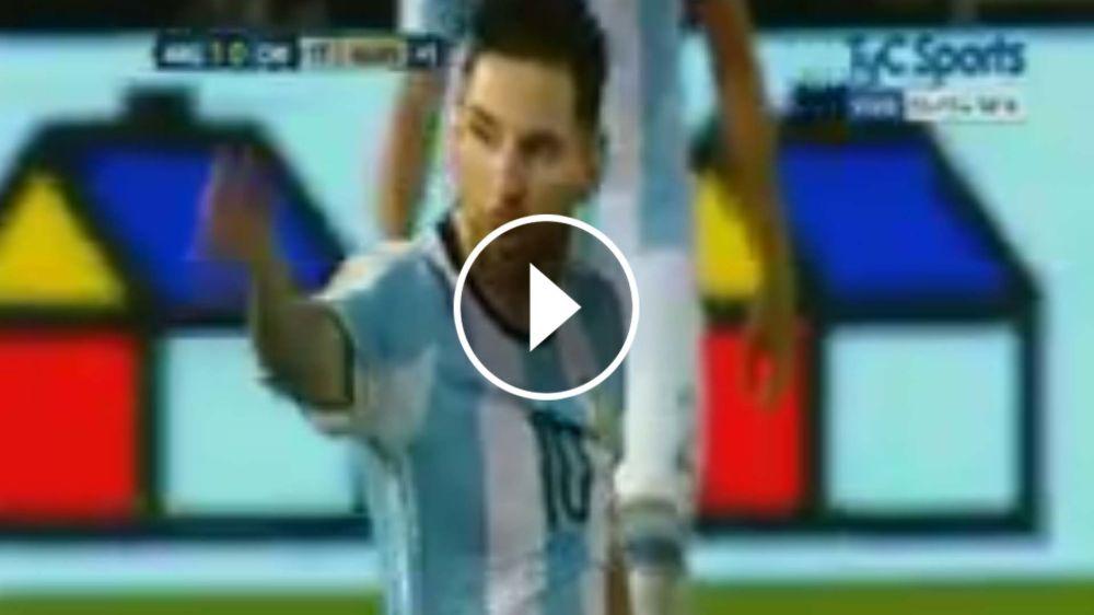 VIDEO: Messi explotó con el árbitro y le dijo de todo