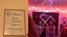 Photos of swastika, racist sign inside college students' house spark outrage