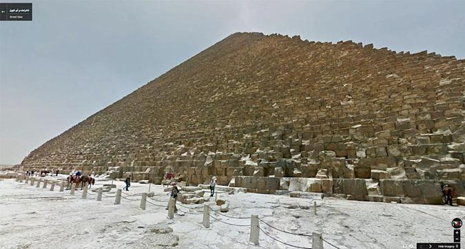 Stroll through Egypt's pyramids on Google Street View