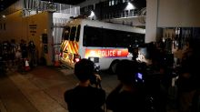 Four HK youths held under new security law