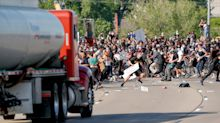 Charges to be dropped against trucker who drove into Minneapolis protest after George Floyd murder