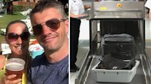 Couple stopped by airport security for surprising item in luggage