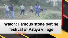 Watch: Famous stone pelting festival of Patiya village