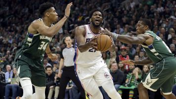 Giannis, Embiid go off in potential playoff preview