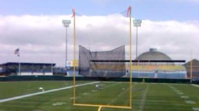 Raw Video: Field Goal Net Tested At Rosenblatt