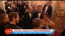 Harry and Meghan mingle with stars at fundraiser