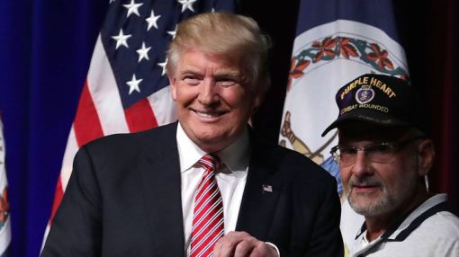 Veteran raises money to send Trump to a war zone so he can earn an actual Purple Heart