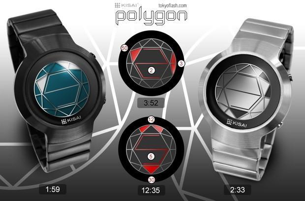 Tokyoflash mixes time and geometry to make its Kisai Polygon watch (video)