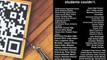Student decorates graduation cap in honor of peers who died in school shootings