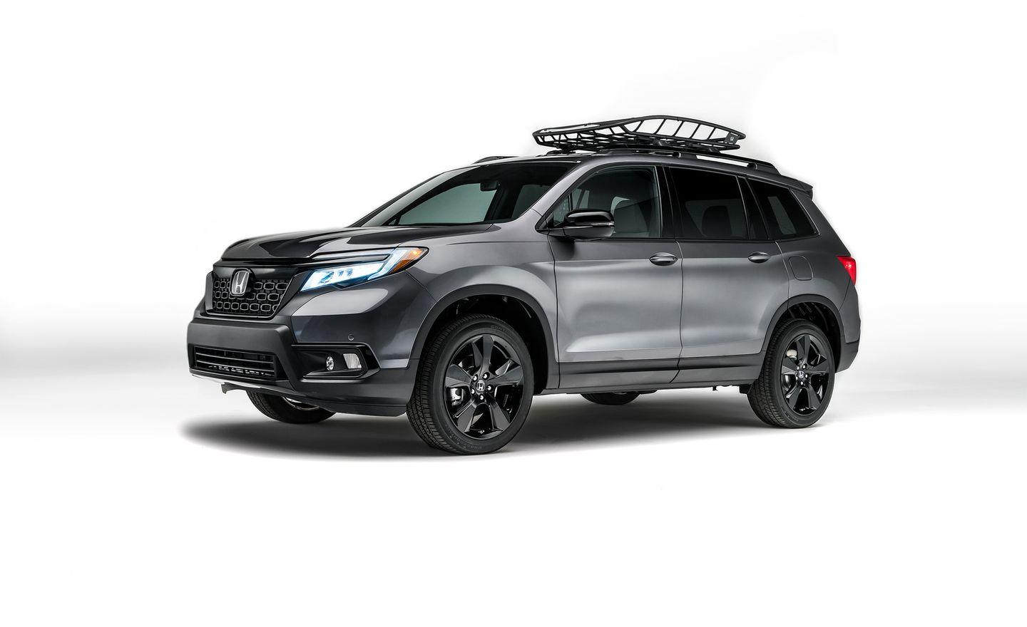 """<p>After a nearly 20-year hiatus, <a href=""""https://www.caranddriver.com/news/2019-honda-passport-photos-info"""" rel=""""nofollow noopener"""" target=""""_blank"""" data-ylk=""""slk:Honda's Passport SUV is back"""" class=""""link rapid-noclick-resp"""">Honda's Passport SUV is back</a>. Unlike the original Isuzu-based Passport, the new model is a homegrown Honda effort. Gone is the old Passport's rugged frame and proper four-wheel-drive equipment; neither ranks highly on mid-size-SUV customers' must-have lists. Instead, the Passport is a two-row crossover spun off the three-row Pilot's hardware. Dimensionally, the Passport is barely smaller than the Pilot, a boon to interior spaciousness; looks-wise, it's less bulbous-looking than its three-row sibling.<em>-Alexander Stoklosa</em></p>"""