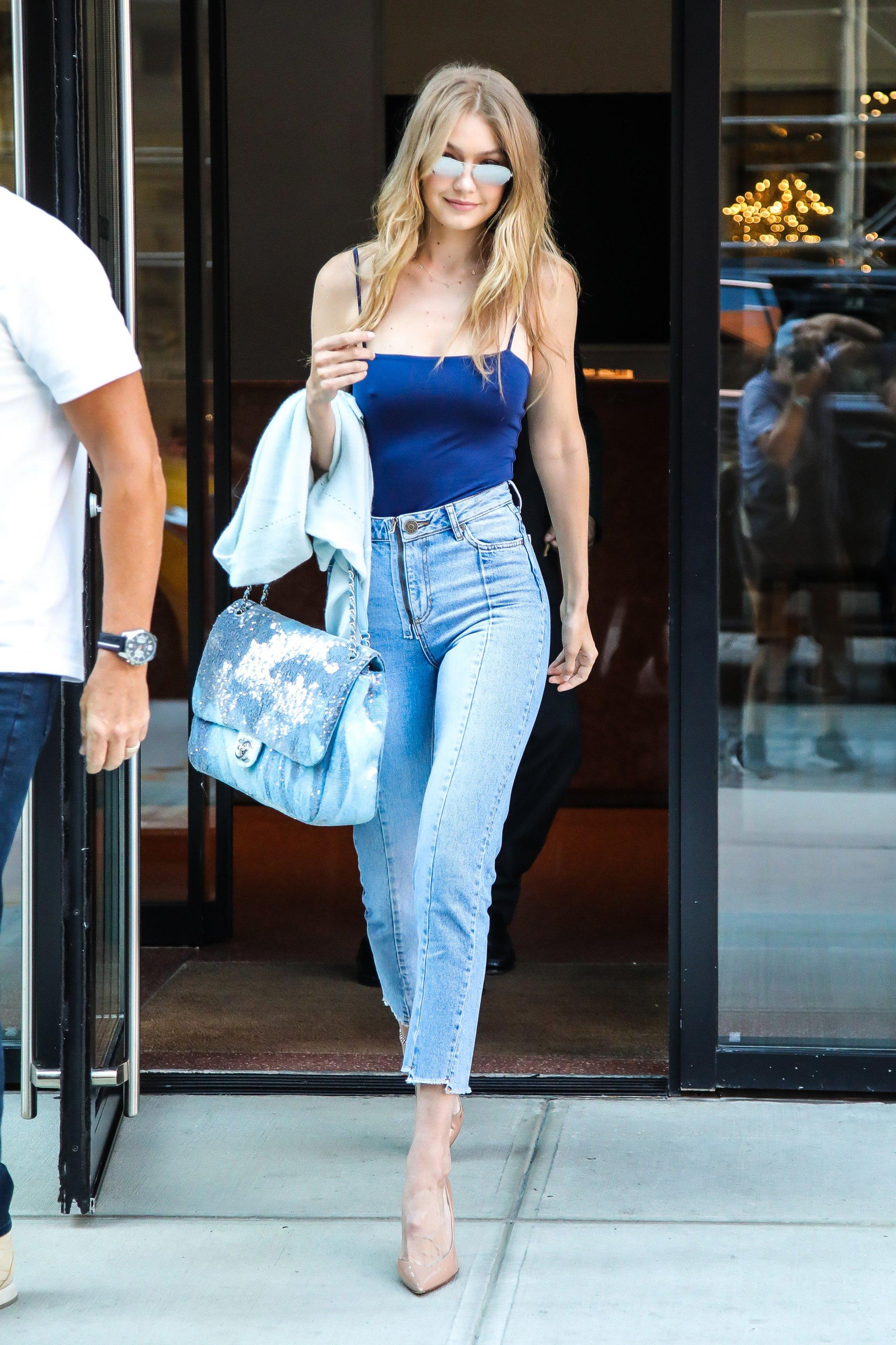 Gigi Hadid's New Chanel Bag Is Tie-Dyed With Sequins, and We're Totally  Buggin'