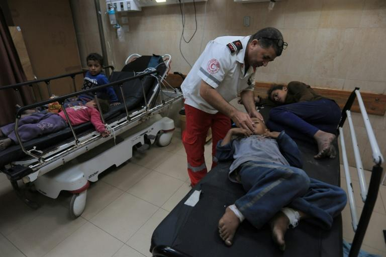 Palestinian officials said eight members of the same family, including five children, were killed