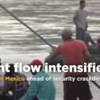Migrants rush to enter Mexico ahead of Trump-related security crackdown