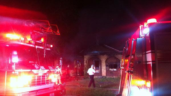 Vacant house goes up in smoke