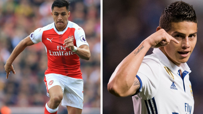 Gossip: Man City and Bayern 'battle for Alexis', James 'could join Chelsea'