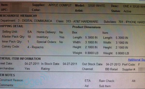 White iPhone 4 coming to Best Buy on Wednesday?