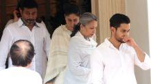Pics: Celebs come to pay condolences at Krishna Raj Kapoor's bungalow in Chembur