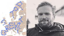 British man makes statement with 'Stop Brexit' roadtrip map across Europe