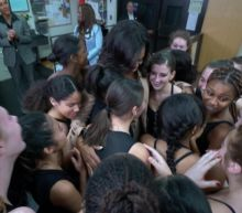 Michelle Obama surprises students in a dance class at her former high school: Part 5
