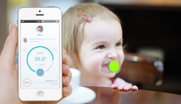 Smart pacifier tracks your babies and their fevers