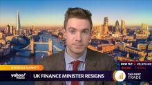 UK finance minister resigns