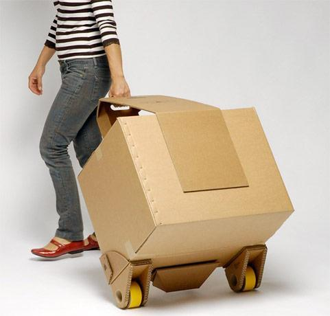 Move-It: the stick-on recyclable cardboard trolley (video)