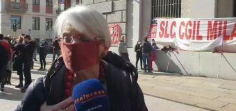 Milano, protesta dei lavoratori dello sport