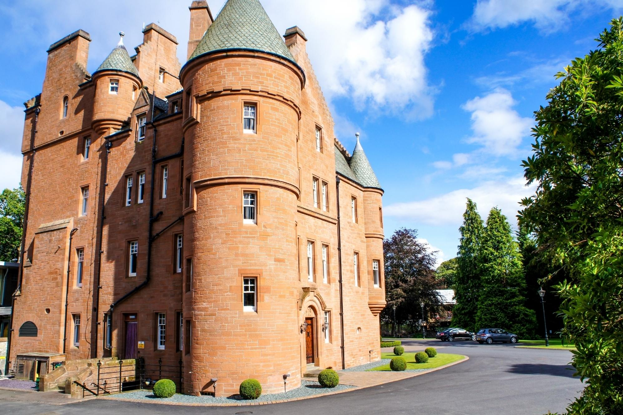 "<a href=""http://www.fonabcastlehotel.com/"" target=""_blank"">Fonab Castle Hotel</a> can be found on the banks of Loch Faskally in the heart of Perthshire. The castle, which still retains many of its original features, is now a 26 bedroom hotel and has been voted the best castle-hotel in Europe by Tripadvisor reviewers."