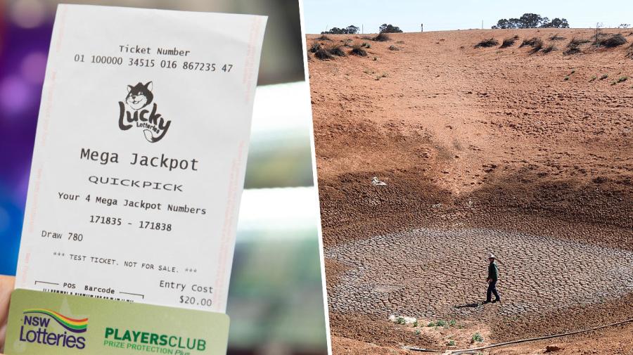 'We've been hanging in': Drought-stricken farmer scoops lottery win