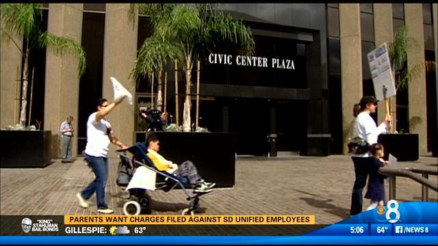Parents want charges filed against SD Unified employees