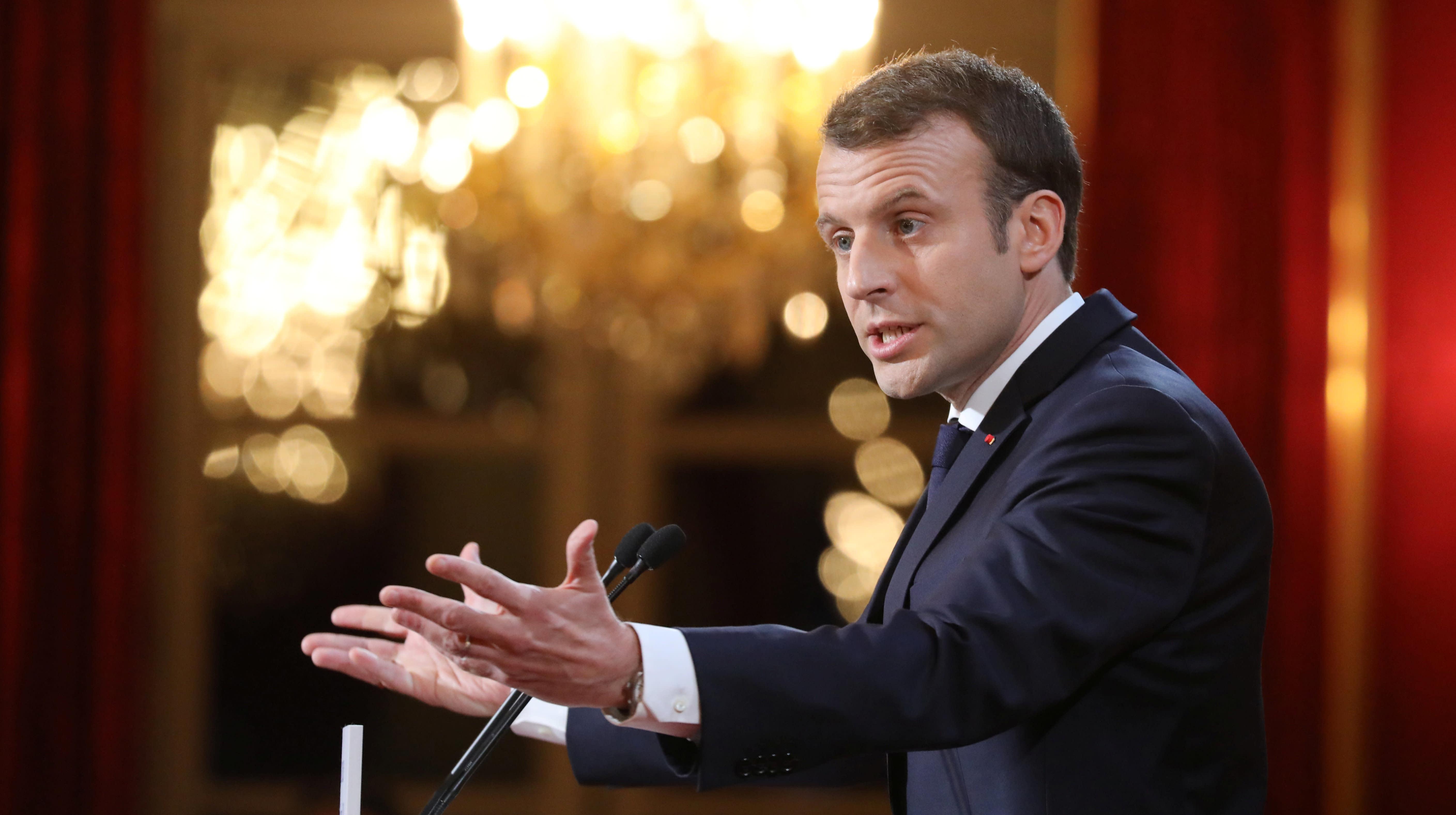 French President Emmanuel Macron Vows To Ban 'Fake News'