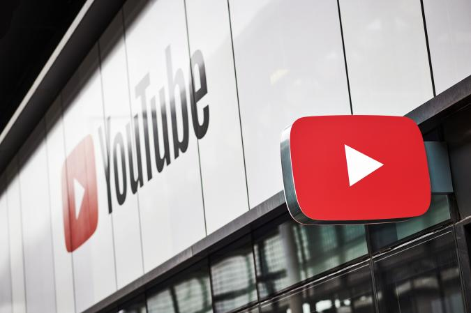 LONDON, UNITED KINGDOM - JUNE 4: Detail of the YouTube logo outside the YouTube Space studios in London, taken on June 4, 2019. (Photo by Olly Curtis/Future via Getty Images)