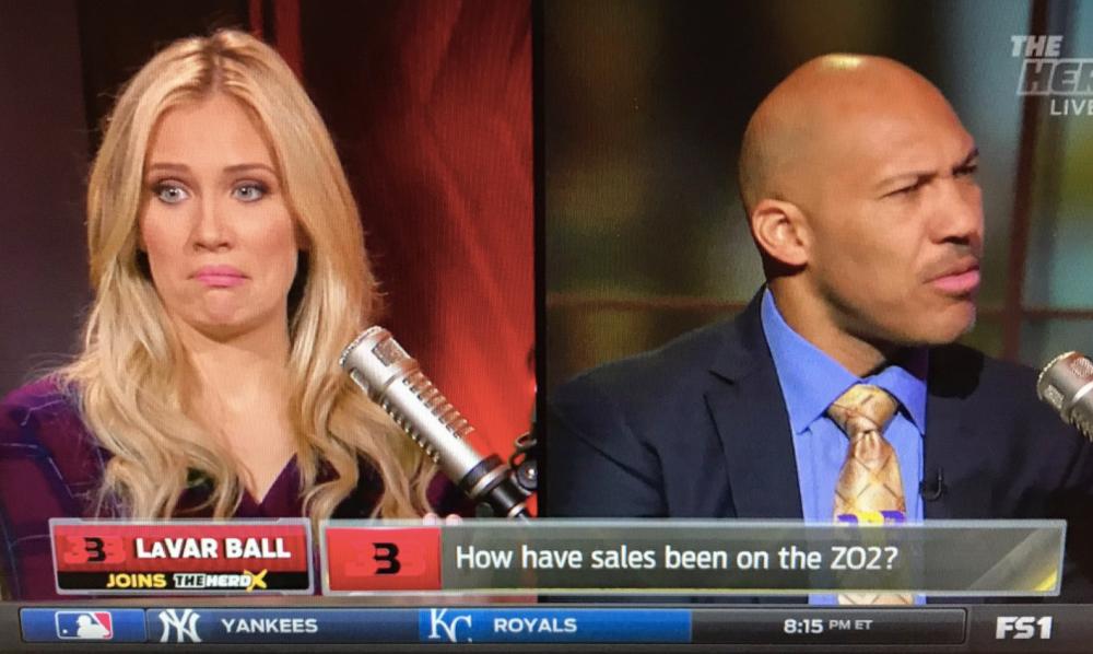 Kristine Leahy and LaVar Ball on 'The Herd.' (Screencap via Fox Sports Radio)