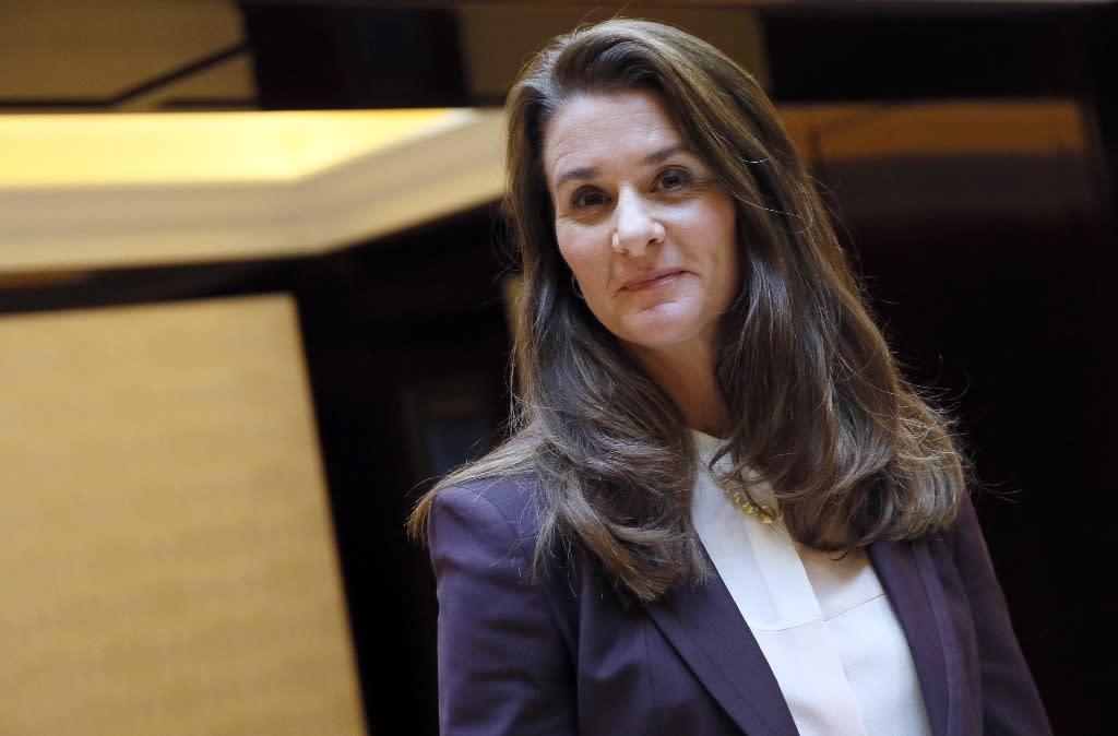 "Donald Trump's abortion order ""could impact millions of women and girls around the world,"" says Melinda Gates (AFP Photo/PATRICK KOVARIK)"