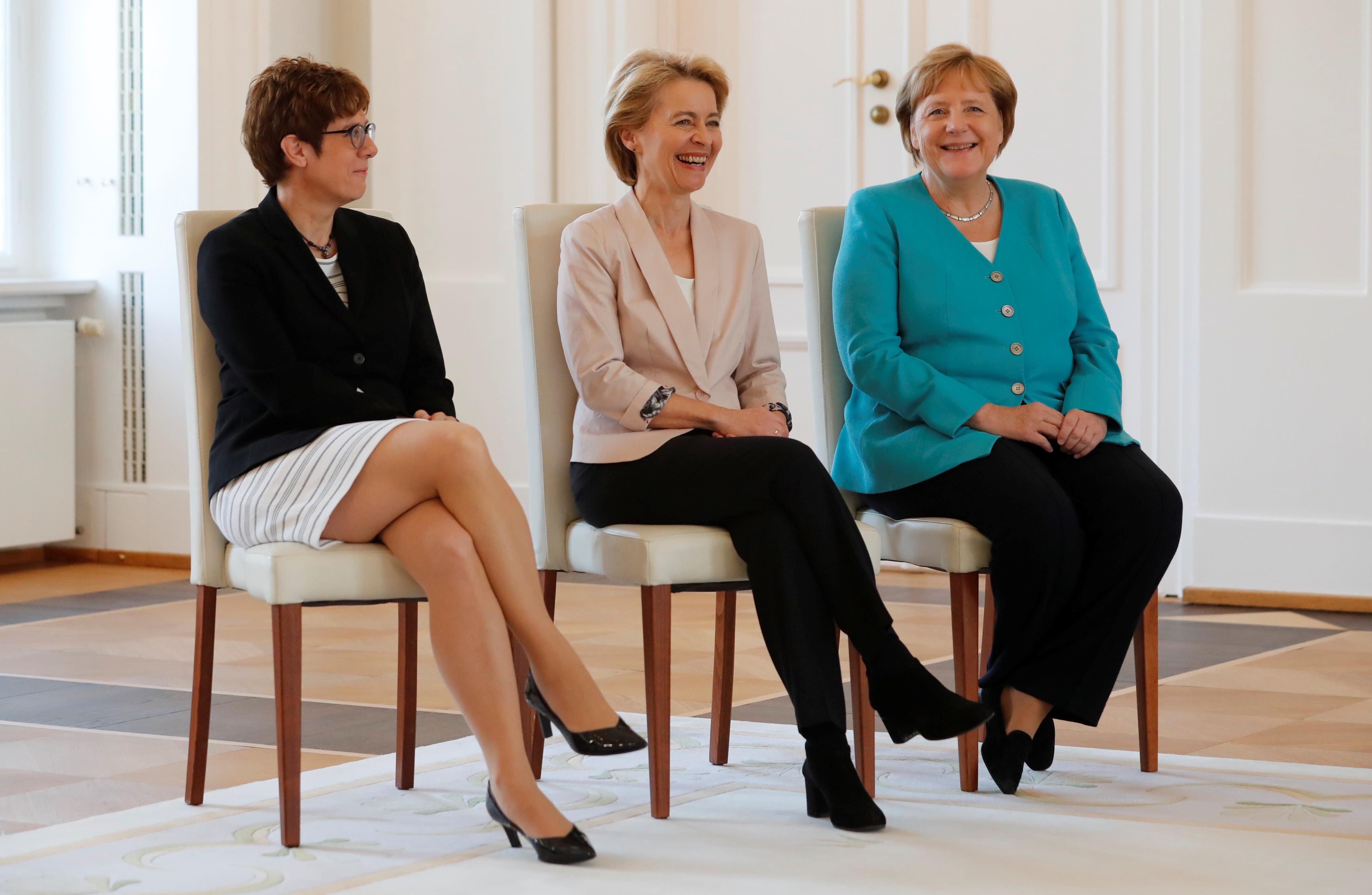 Merkel's chess: Von der Leyen wins Europe, AKK gets German defence role