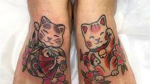 Tatuajes de gatos que te harán decir 'miau'