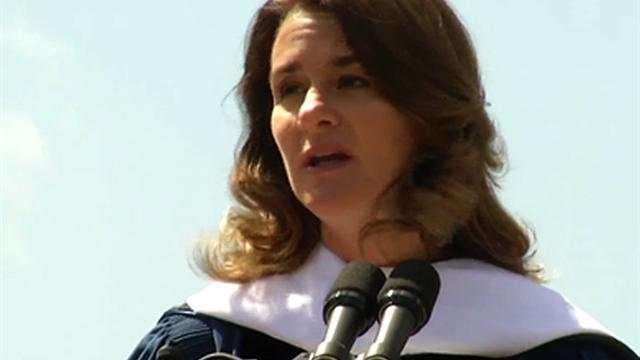Melinda Gates inspires grads to leave their mark with technology