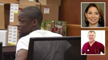 Doorman's disturbing courtroom outburst after stabbing woman 24 times
