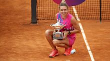 Halep wins Italian Open after Pliskova retires from final