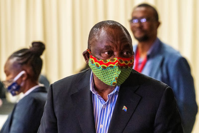 South Africa's Ramaphosa self-isolates after dinner guest gets COVID-19